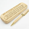 FUTURE HUSBAND - BE PREPARED TO BE YOUR LAST - ENGRAVED WOOD PEN CASE