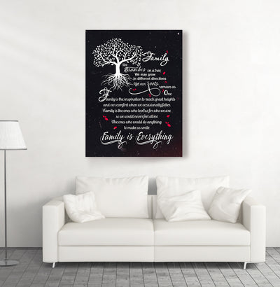 FAMILY IS EVERYTHING - FAMILY ART CANVAS