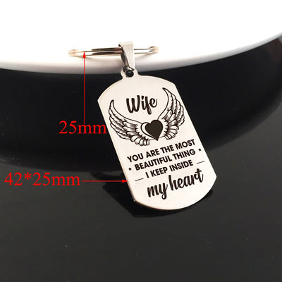 WIFE - MY HEART - KEY CHAIN 1