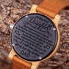 DAD DAUGHTER - SINCE THE FIRST - WOODEN WATCH