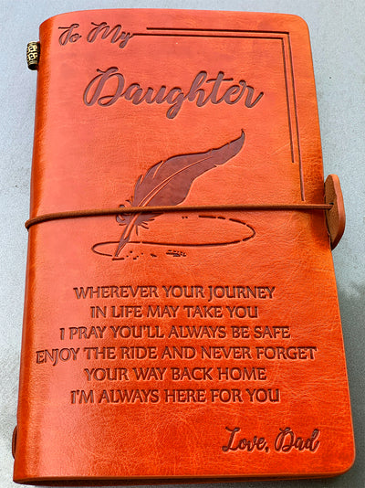 DAUGHTER DAD - ENJOY THE RIDE - VINTAGE JOURNAL