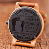 DAUGHTER DAD - ALWAYS REMEMBER - WOOD WATCH
