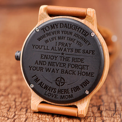 DAUGHTER MOM - ENJOY THE RIDE 2 - WOOD WATCH