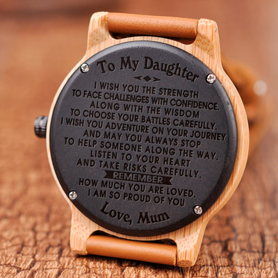 DAUGHTER MUM - I WISH YOU - WOOD WATCH