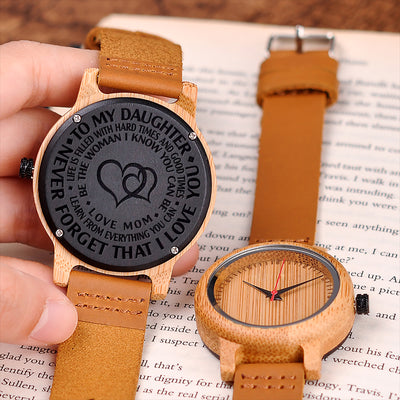 DAUGHTER MOM - BE THE WOMAN - WOOD WATCH