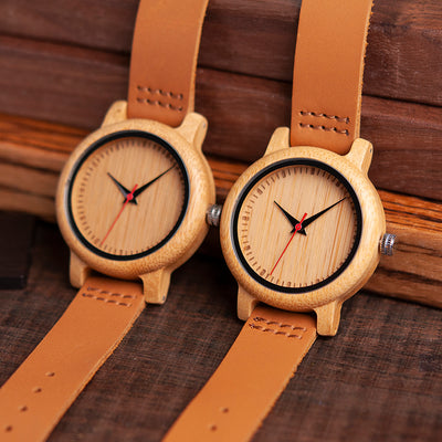 DAUGHTER MUM - THREE THINGS - WOOD WATCH