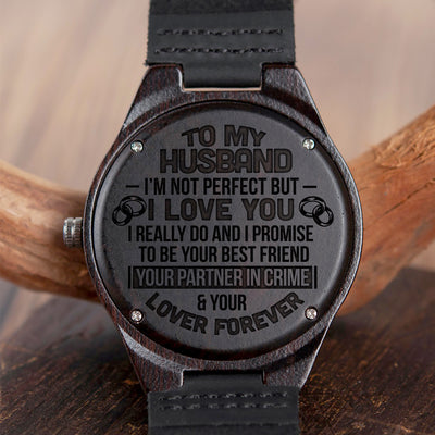 HUSBAND - PARTNER IN CRIME - WOOD WATCH