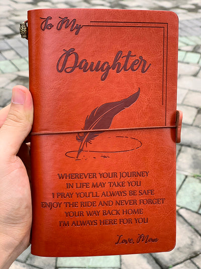 DAUGHTER MOM - ENJOY THE RIDE - VINTAGE JOURNAL