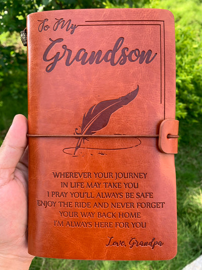 GRANDSON GRANDPA - ENJOY THE RIDE - VINTAGE JOURNAL