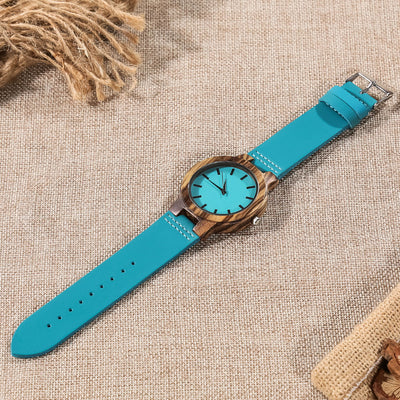 SON MOM - CARRY YOU IN MY HEART - BLUE WOOD WATCH