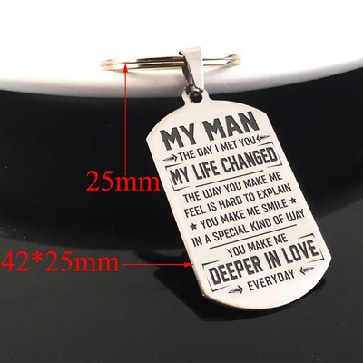 MY MAN - MY LIFE CHANGED - KEY CHAIN 1