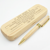 SON MUM - WORK HARD - ENGRAVED WOOD PEN CASE