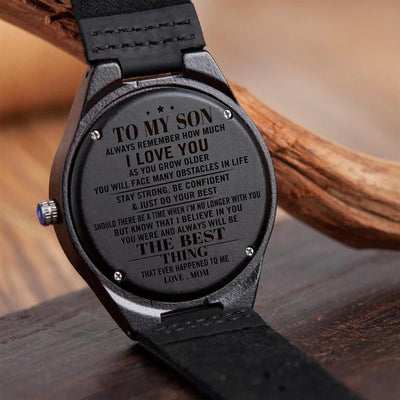 SON MOM - THE BEST THING - WOOD WATCH