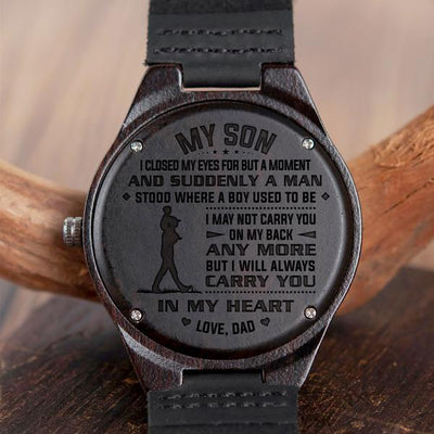 SON DAD - ON MY BACK - WOOD WATCH