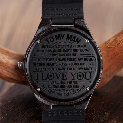 MY MAN - MY HOME - WOOD WATCH