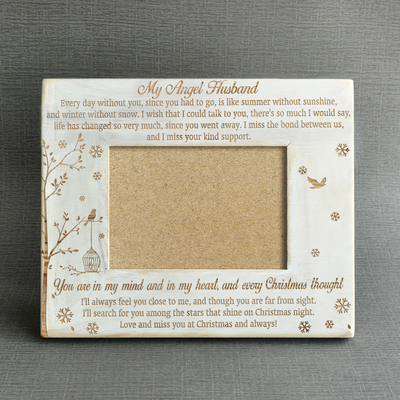 ANGEL HUSBAND - CHRISTMAS - WOOD FRAME