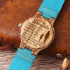 DAUGHTER MUM - ALWAYS BE SAFE - BLUE WOOD WATCH