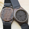 MY HUSBAND - LOVE REALLY IS - WOOD WATCH