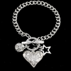 DAUGHTER MOM - SOURCE OF MY JOY - HEART CHARM BRACELET