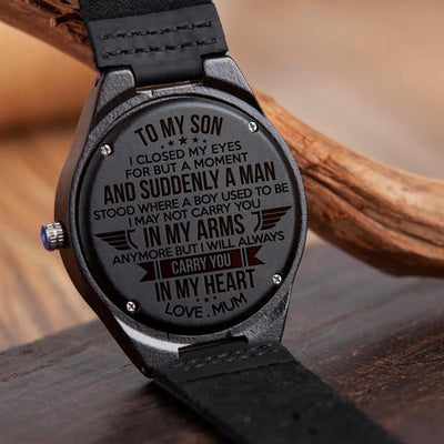 SON MUM - CARRY YOU - WOOD WATCH