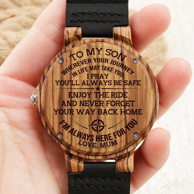 SON MUM - ENJOY THE RIDE 2 - BROWN WOOD WATCH