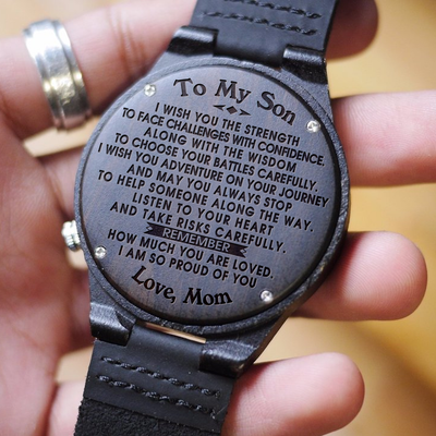 SON MOM - I WISH YOU - WOOD WATCH