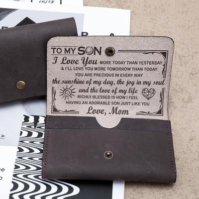 SON MOM - SUNSHINE - LEATHER WALLET