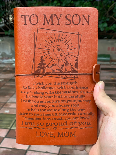 SON MOM - PROUD OF YOU - VINTAGE JOURNAL