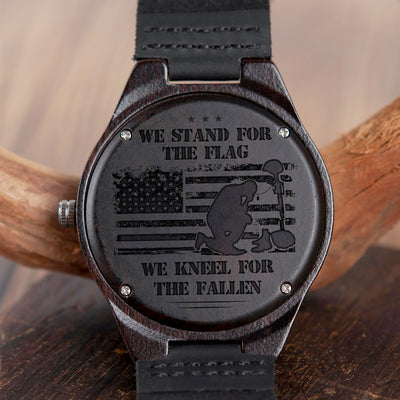 WE STAND FOR THE FLAG - WOOD WATCH