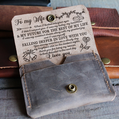 WIFE HUSBAND - MY TOMORROW MY FUTURE - LEATHER WALLET
