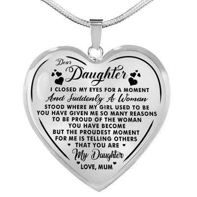 DAUGHTER MUM - YOU ARE MY DAUGHTER - HEART NECKLACE