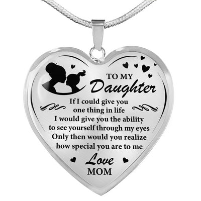 DAUGHTER MOM - SPECIAL - HEART NECKLACE