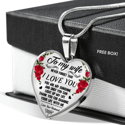 WIFE HUSBAND - LIGHT UP MY LIFE - HEART NECKLACE