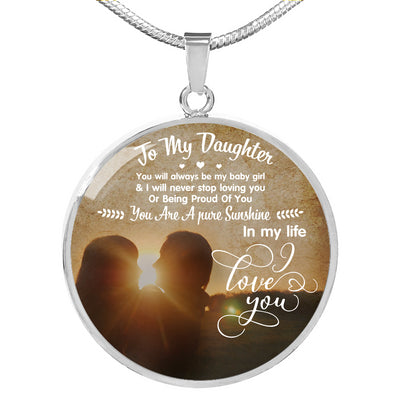 DAUGHTER - A PURE SUNSHINE - ROUND NECKLACE