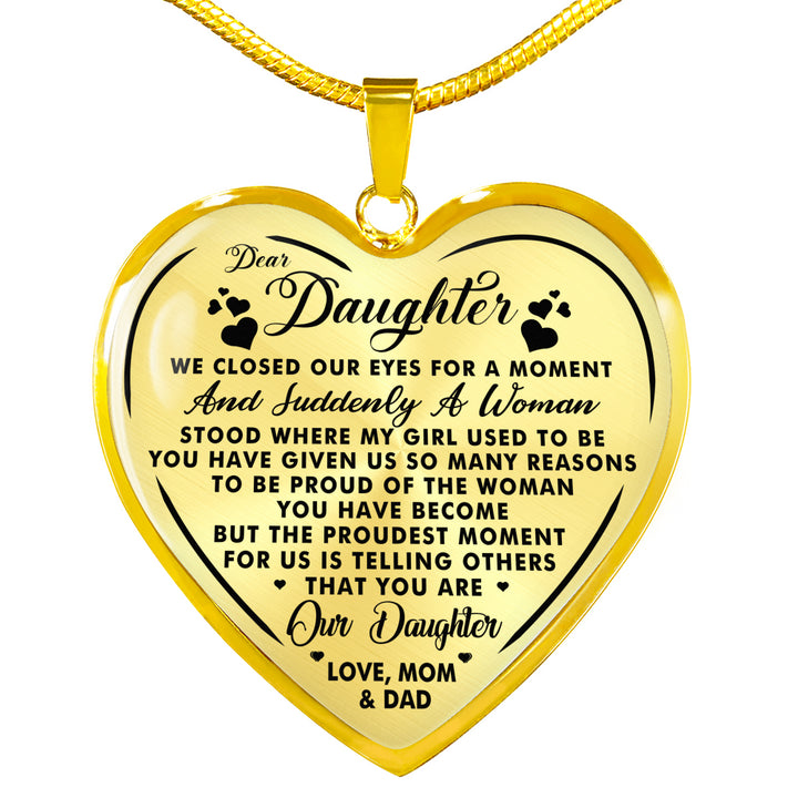 DAUGHTER - YOU ARE OUR DAUGHTER - NECKLACE