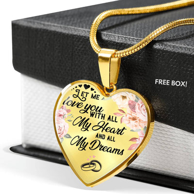 WIFE HUSBAND - LET ME LOVE YOU - LUXURY NECKLACE