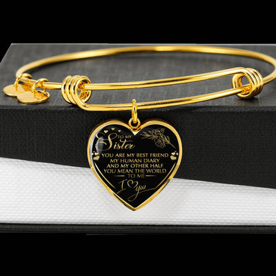 SISTER - MY BEST FRIEND - HEART BANGLE