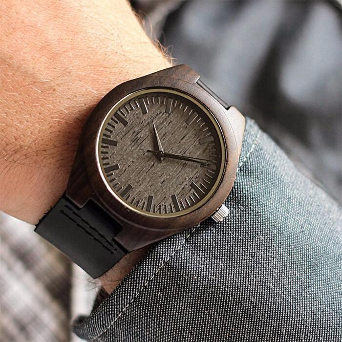 TO MY SON - DAD - BE BOLD - WOOD WATCH