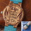 WIFE HUSBAND - YOU ARE MY ANGEL - BLUE WOOD WATCH