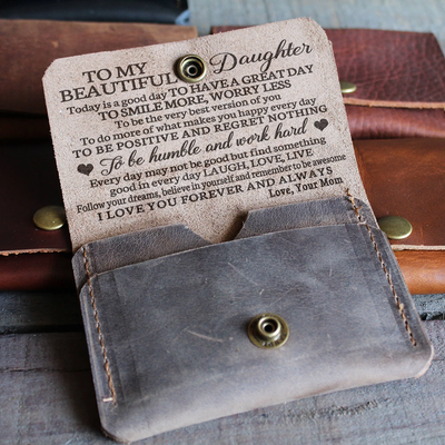 DAUGHTER MOM - GREAT - LEATHER WALLET