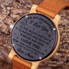 DAUGHTER MUM - LOVE YOU TO THE MOON - WOOD WATCH
