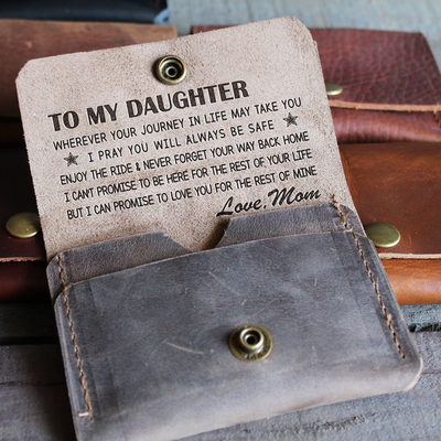 DAUGHTER MOM - ENJOY THE RIDE 2 - LEATHER WALLET