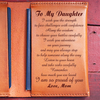 DAUGHTER MOM - I WISH YOU - LEATHER PASSPORT CASE