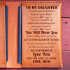 DAUGHTER MUM - NEVER LOSE - LEATHER PASSPORT CASE