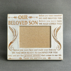 OUR SON - GREATEST MIRACLE - WOOD FRAME