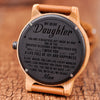 DAUGHTER - JOY AND HAPPINESS - WOOD WATCH