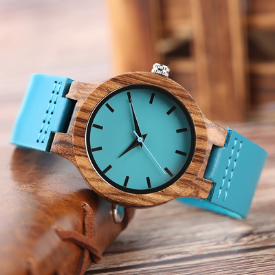 SON MUM - PROUD OF YOU - BLUE WOOD WATCH