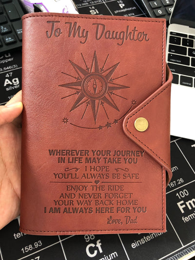 DAUGHTER DAD - ALWAYS BE SAFE - JOURNAL COVER