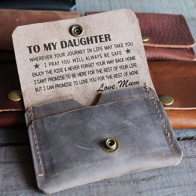 DAUGHTER MUM - ENJOY THE RIDE 2 - LEATHER WALLET