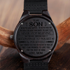 SON MOM - NEVER STOP BELIEVING - WOOD WATCH